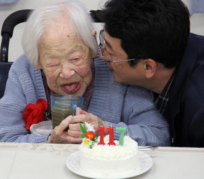 Misao Okawa, the world's oldest living person