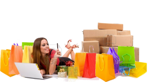 4520412-shopping-woman-purchasing-over-internet-with-bags-and-gift-all-around